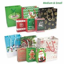 24 Christmas Gift Bags Assorted sizes with 60-Count Christmas Gift Tags(Bulk Set image 5