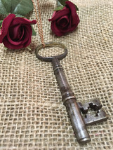 Long Key Necklace - Skeleton Key Authentic Vintage Antique Pendant - 18t... - $24.99