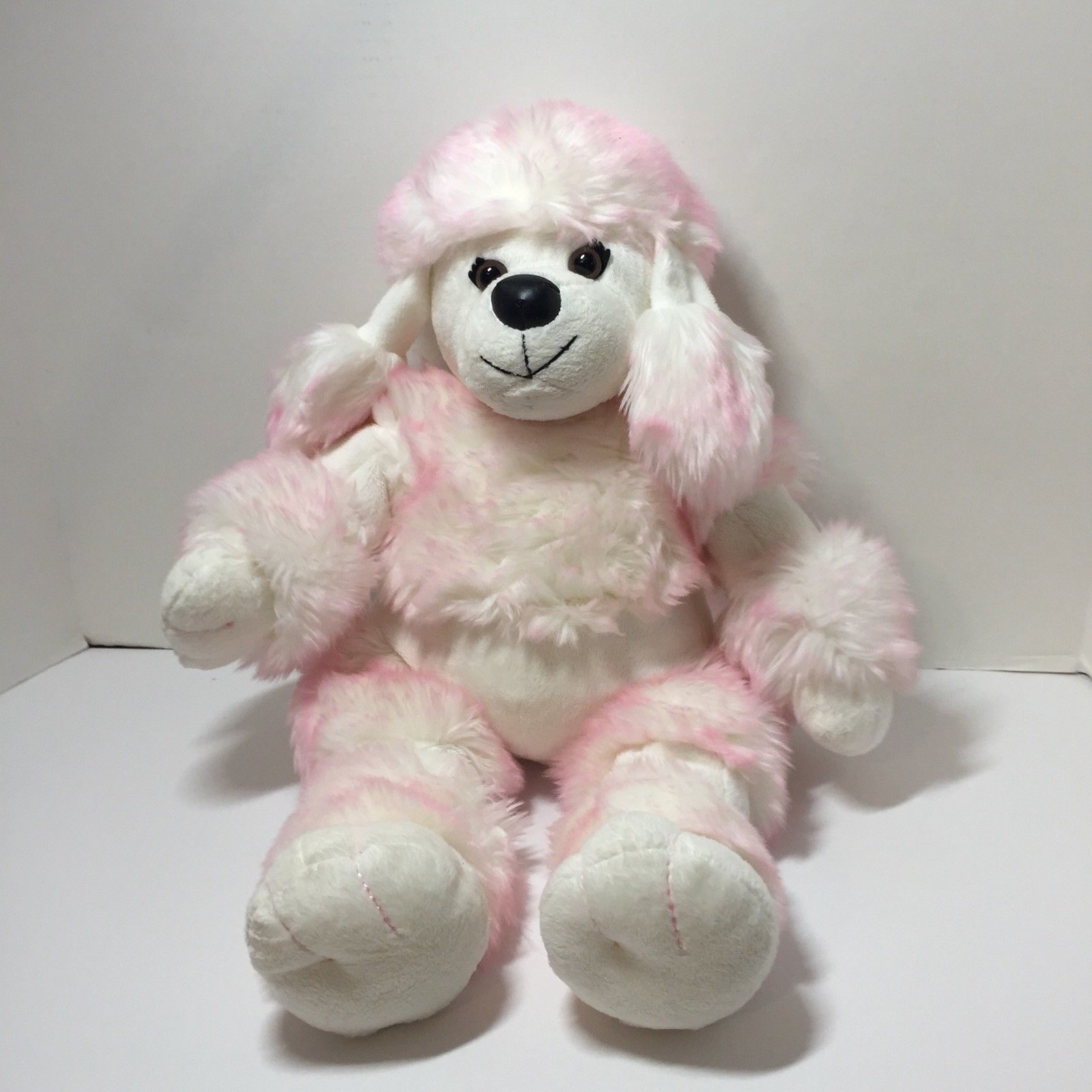 White Pink French Poodle Plush Stuffed And Similar Items