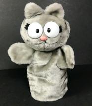 Garfield Nermal stuffed plush animal cat puppet 1980s Dakin cartoon char... - $50.02