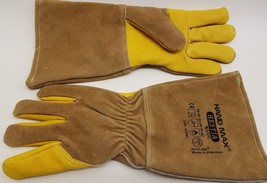 Hand Max Gauntlent Leather Kevlar Heat Resistant Animal Handling Size 11... - $39.99