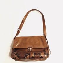Cole Haan brown leather Ava Hayden shoulder bag purse flap - $46.54