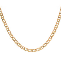 5.5 mm 10K Yellow Semi Hollow Anchor Chain Necklace - $622.71