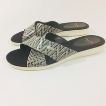 Cole Haan Grand OS Womens Slides Sandles Size 7B Black and White D43610 - $27.71