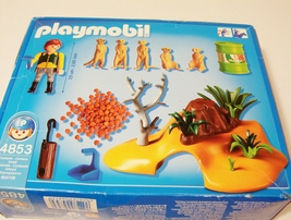 Playmobil Meerkats Family Zoo #4853 Burrow Den Zookeeper Complete Sealed... - $24.99