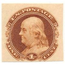 112-E4b 1c Franklin plate essay on stamp paper, OG, imperforate orange, ... - $99.00