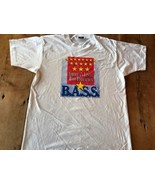 BASS Americas Finest Fisherman Large T-Shirt Trout Fly Vintage 90's Mint - $12.83