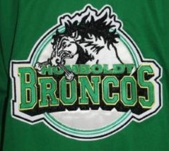 Any Name Number Humboldt Broncos Junior Hockey Jersey Green Any Size image 4