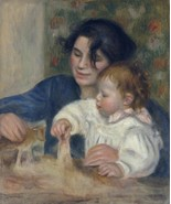 Gabrielle and Jean 2, 1895 - 24x32 inch Canvas Wall Art Home Decor - $51.99
