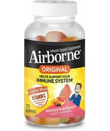 Airborne Immune Support Supplement Assorted Fruit Flavors Vitamin C Blend Gummie - $32.00