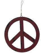 """Attraction Design Metal Treasured Red Peace Sign, 8"""" - $9.07"""
