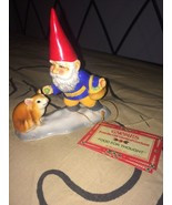 """1980 4.5"""" Gorham Unieboek FOOD FOR THOUGHT Gnome Feeding Mouse Ceramic F... - $36.72"""