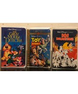 Lot Of 3 / Toy Story/ 101 Dalmatians/ The Great Mouse Detective VHS - $18.70