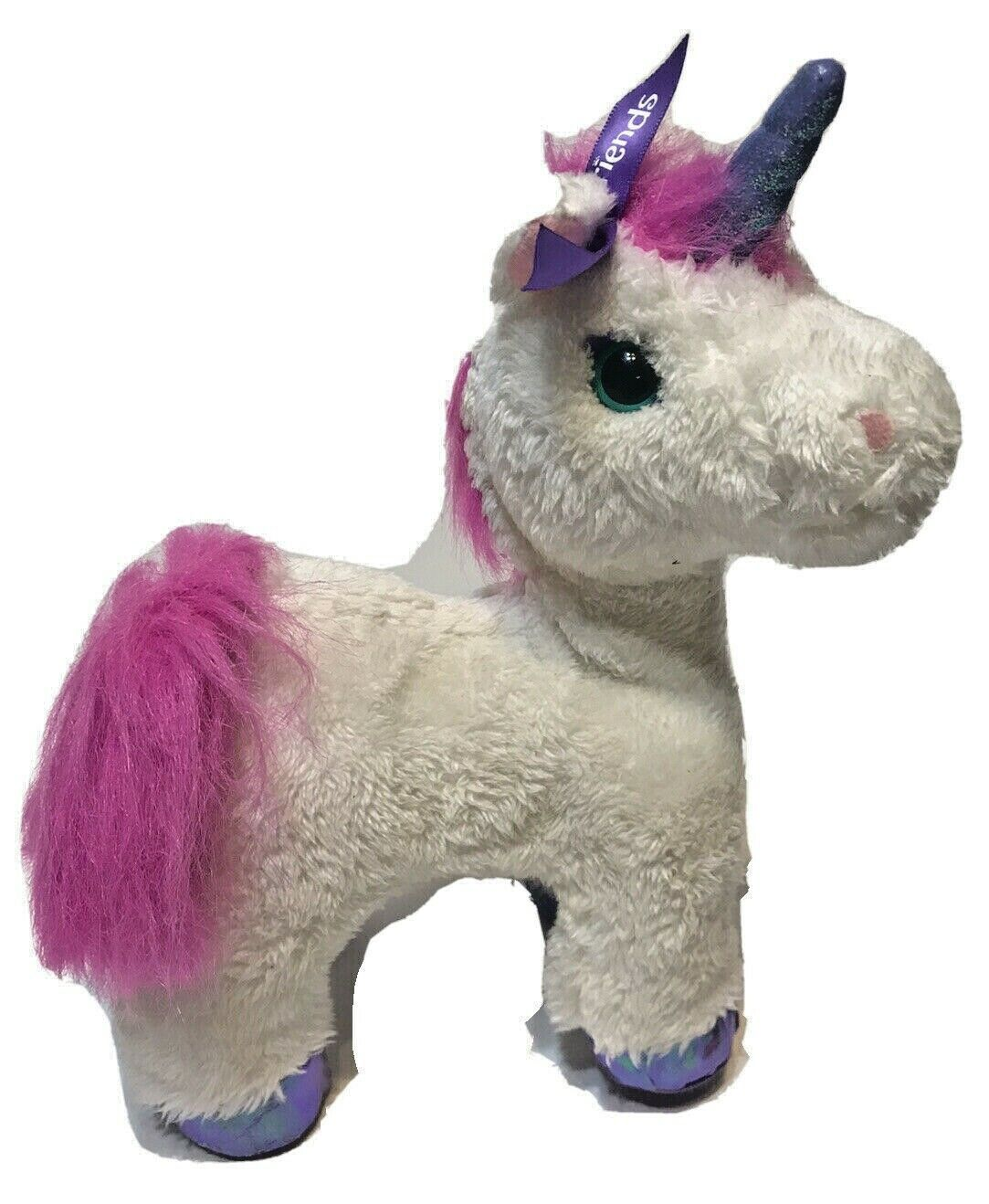 "Primary image for FurReal Friends Starbeam Unicorn White Pink Mane Walks Neighs 9"" FurReal Tested"