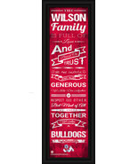 Personalized Fresno State Bulldogs 24 x 8 Family Cheer Framed Print - $39.95