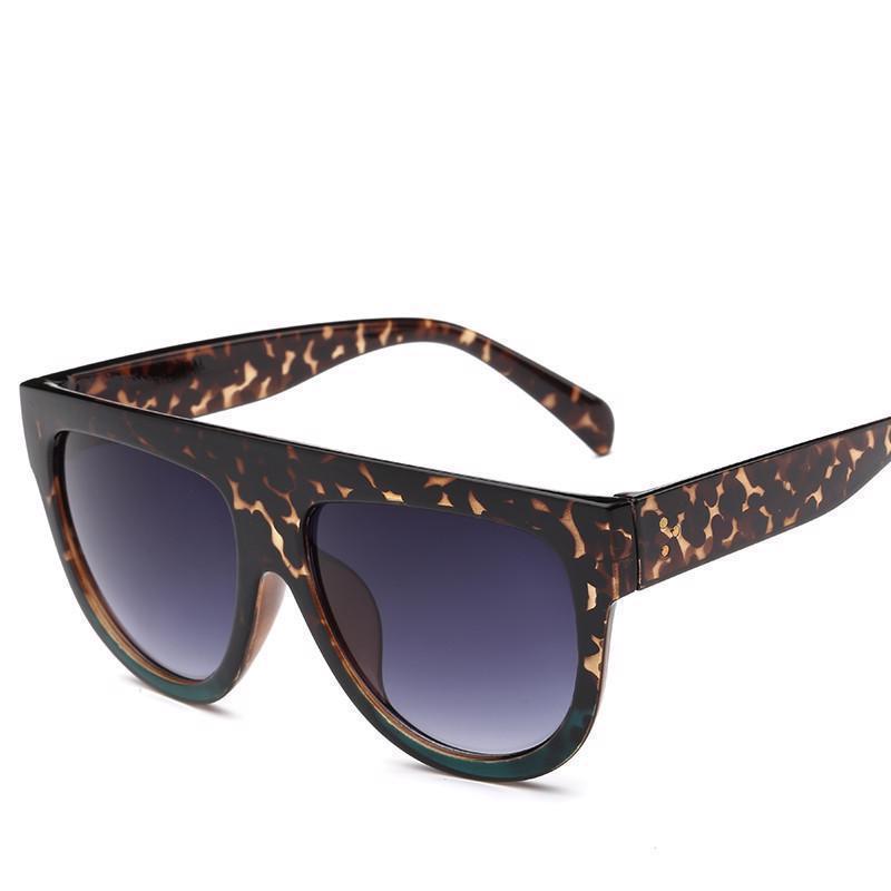 Flat Top Mirror Cat Eye Unisex Sunglasses Luxury Brand Classic Fashion Shades
