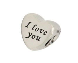 Authentic PANDORA Valentine WORDS OF LOVE  I Love You HEART Charm 791422... - $21.78