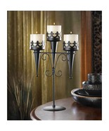 Medieval Triple Iron Candle Stand - $15.99