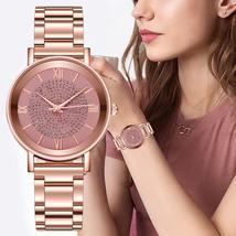 Luxury Diamond Rose Gold Ladies Wrist Watch - $39.99