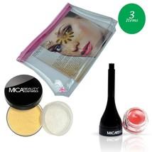 MicaBeauty Full Size Foundation MF4 Honey+Tinted Lip Balm+Cosmetic Bag - $52.00