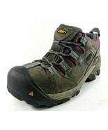 KEEN Brown Leather ASTM F2413 Steel Toe Leather Hiking Work Shoes Womens 7  - $48.19