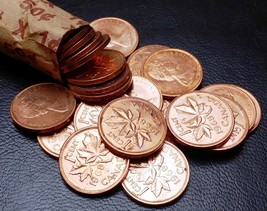 Roll of 50x 1968 Canada Small Cents (Penny) ***LUSTER, HIGH GRADE COINS*** - $8.29