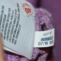 American Eagle Soft & Sexy Plush Fuchsia Purple Long Sleeve Knit Sweater Size XS image 4
