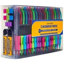 June Gold 72 Mechanical Pencils, 0.7 mm HB #2 Lead, 2 Lead Dispensers/w ... - $26.32