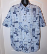 Regatta Men's Blue Nautical Print S/S Button Shirt Size: L