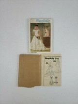 Simplicity 6766 ~1984 Brides Lined Wedding Gown & Bridesmaid Dress Size ... - $10.99