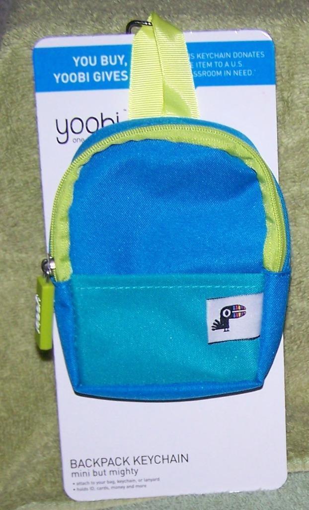 98d680569c44 Yoobi Mini Backpack Coin Purse Keychain BLUE and 50 similar items