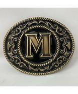 VTG Siskiyou Monogram Letter M Belt Buckle Crumline Western Cowboy Initi... - $34.64