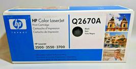 Genuine Hp 308A Q2670A Black Toner Cartridge Laser Jet 3500 3550 3700 New Oem - $26.72