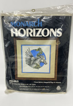OOP Monarch Horizons 1979 Vtg Crewel Embroidery Yarn Pegasus Stitch Kit ... - $39.59