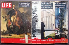 Vintage Life Magazines (4) July 3, 1950~Dec 22, 1952~Oct 20 & Oct 27, 1958 - $36.47