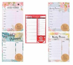 A4 Weekly Planner To Do List Desk Note Pad Meal Plan Home Office Tear Of... - $3.62