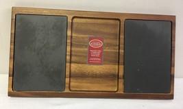 Woodard & Charles Acacia Wood Double Slate Cheese Board 20-Inch - $51.89