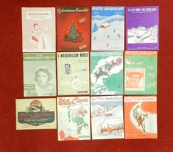 Lot of 12 Vintage Christmas Piano Sheet Music Holiday Classics Rudolph S... - $52.46