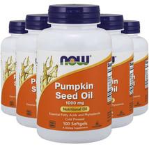 Pumpkin Seed Oil 1000mg Phytosterols 5X100gels Now Foods 2000mg per 2 Caps - $56.38