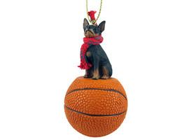 Miniature Pinscher Tan & Black Basketball Ornament - $17.99