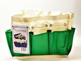 "Allary #1610 Canvas Craft Caddy Organizer Project Tote 9.5""x5""x8.5"", Green - $8.31"