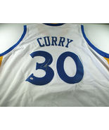 STEPHEN CURRY / AUTOGRAPHED GOLDEN STATE WARRIORS WHITE CUSTOM JERSEY / COA - $178.15