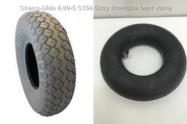 <MSP>X2 Tire+tube bent valve 4.00-5 C154 330X100 Gray ChengShin mobility s - $46.00