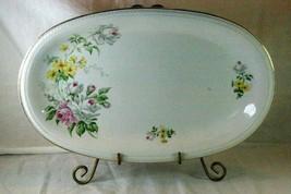 """Winterling Bavaria White Pink Roses 14"""" Oval Platter - $10.39"""