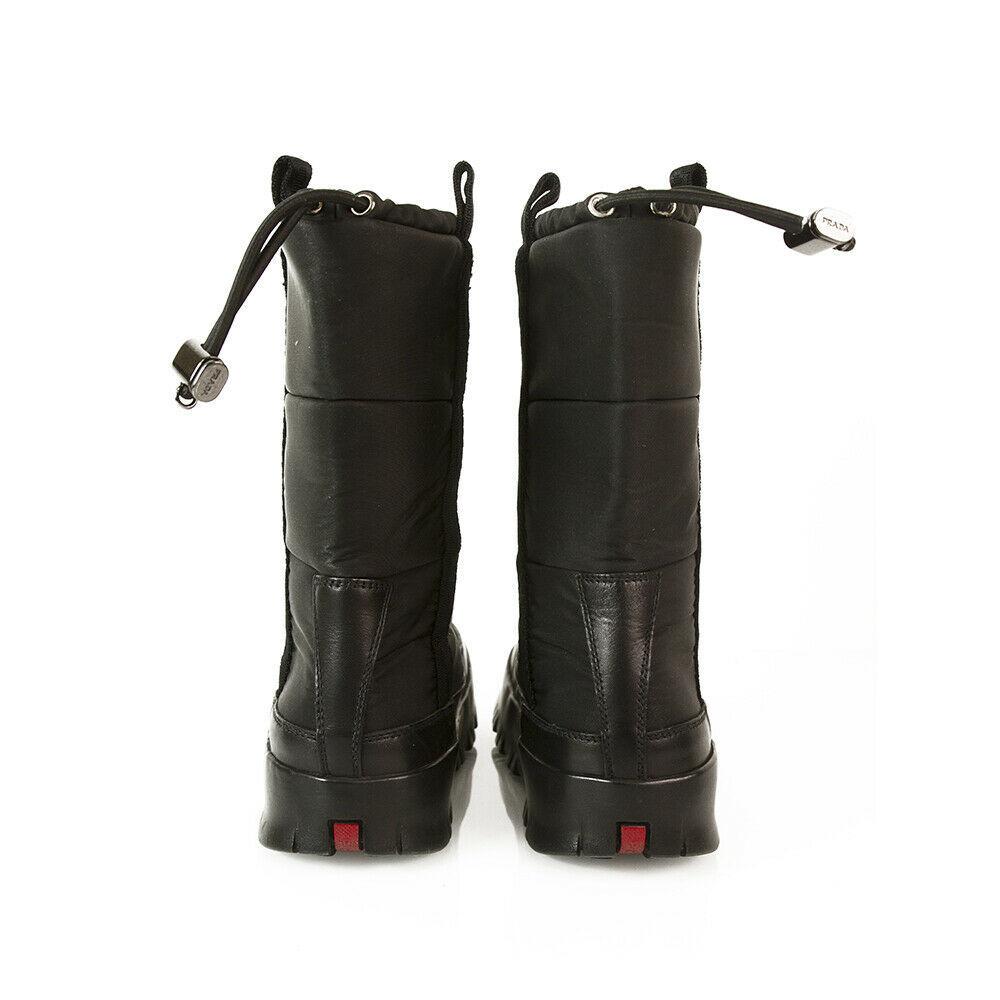Prada Linea Rossa Black Nylon Platform Snow Apres Ski Boot Ret. $850. Booties 36 image 7
