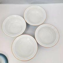 Nikko Gradiance Cereal Soup Bowl Lid Set of 4 Azure Leafette Dish Microwave Safe image 6