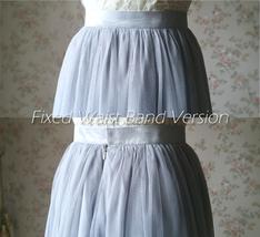 Women Blush Tulle Skirt Full Long Tulle Skirt, Blush Pink, High Waisted, Wedding image 13