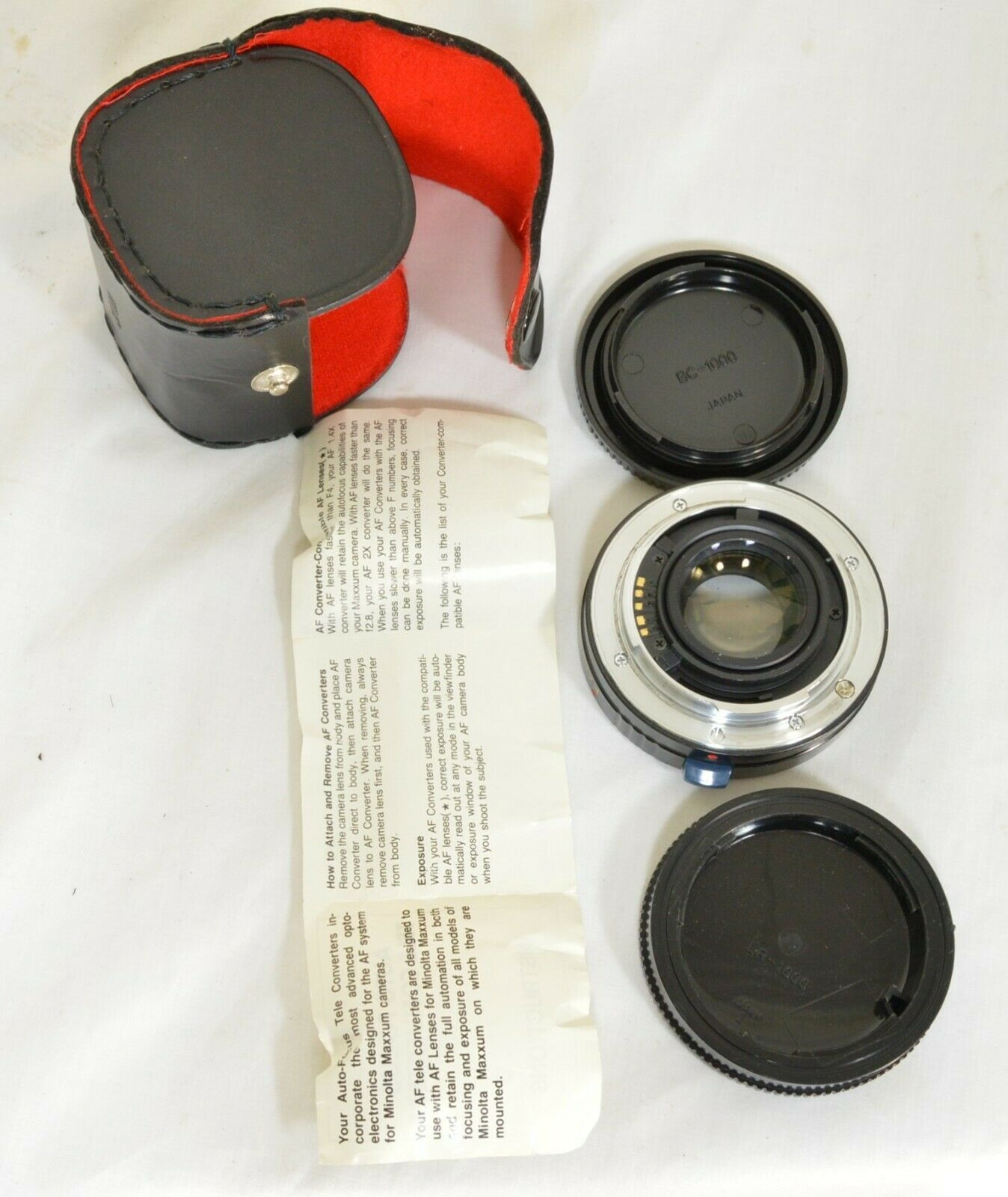 Kalimar 1.4 X M/AF Tele Converter Auto Focus camera lens w/ case & instructions image 3