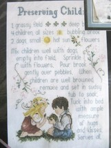 "1996 Janlynn 'Preserving Children' Counted Cross Stitch (9""x13"") New 80-315 - $14.95"