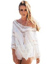 tp147 CFLB Ladies Vintage White Lace Top Off Shoulder Oversized Blouse B... - $19.99